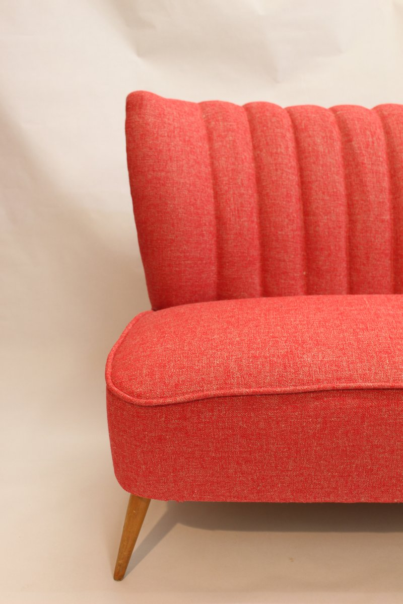 Vintage Red 3 Seater Sofa For Sale At Pamono