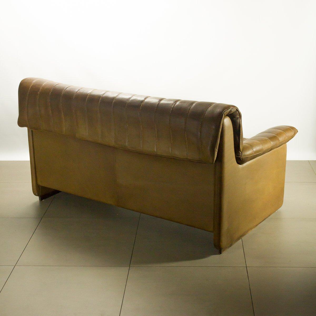 DS-85 Zwei-Sitzer Sofa aus Braunem Leder von De Sede bei ...