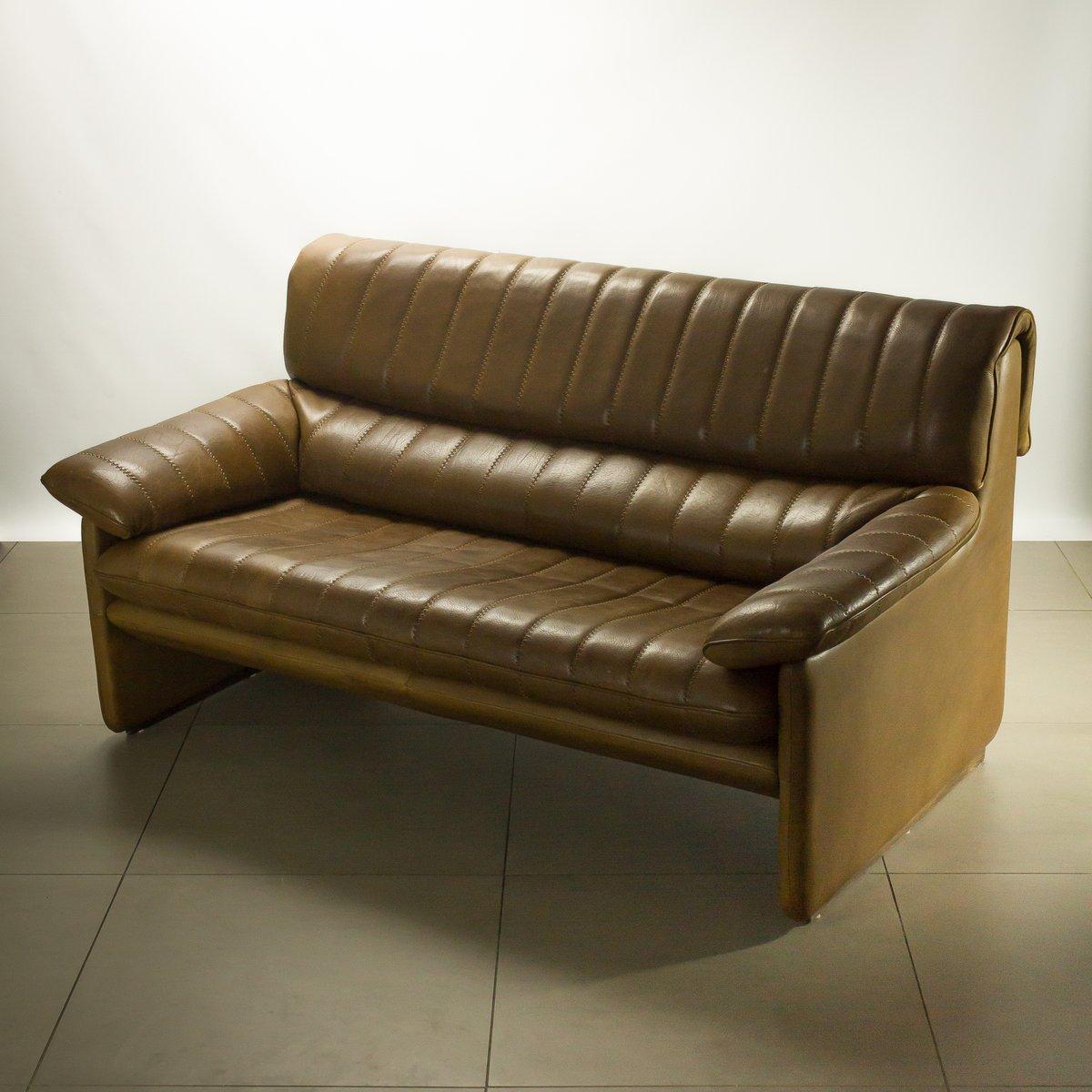 Ds 85 zwei sitzer sofa aus braunem leder von de sede bei for Sofa aus leder