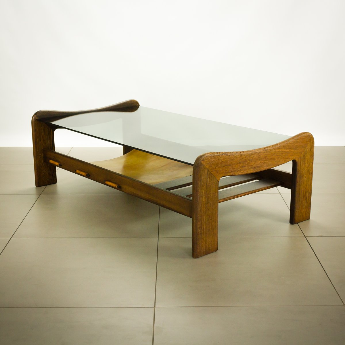 Wenge And Glass Coffee Table From Percival Lafer For Sale At Pamono