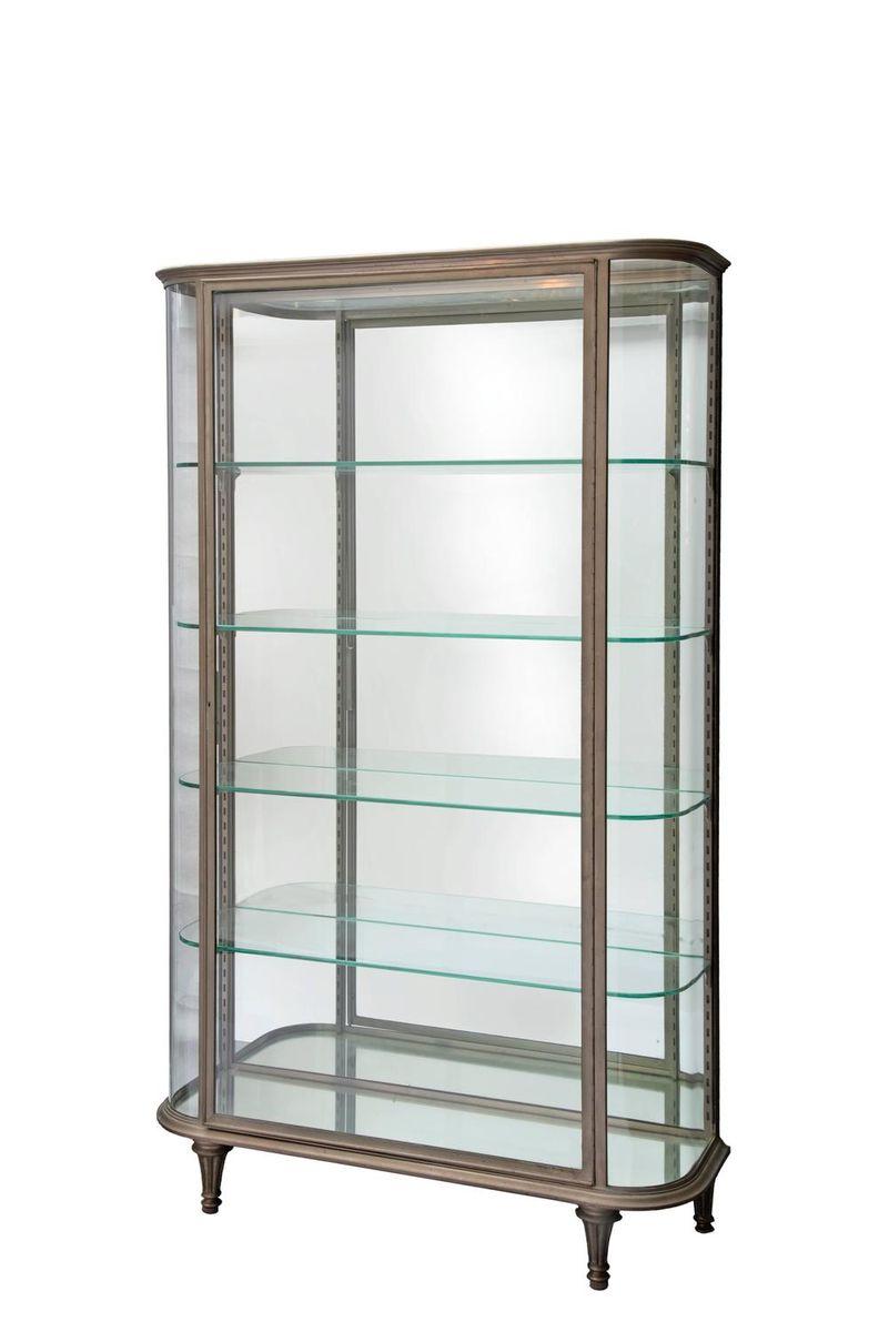vitrine en acier et verre incurv france 1900s en vente sur pamono. Black Bedroom Furniture Sets. Home Design Ideas