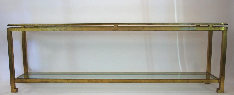 franz sischer konsolentisch aus eisen glas von maison ramsay 1970er bei pamono kaufen. Black Bedroom Furniture Sets. Home Design Ideas
