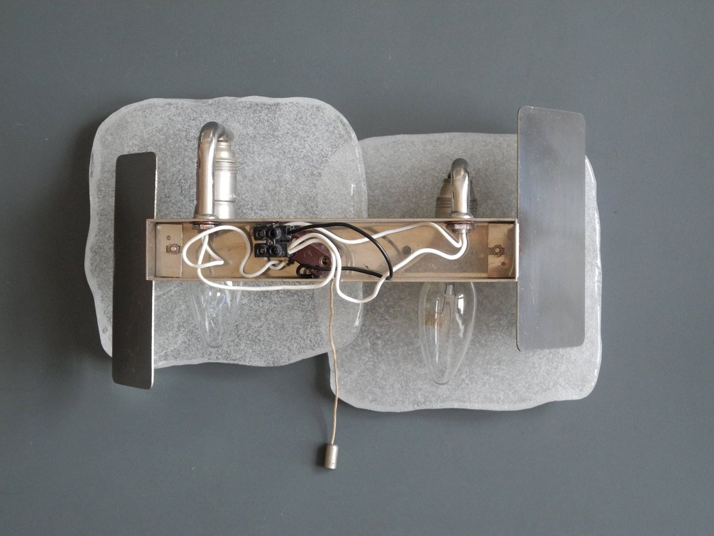 frosted glass sconces by jt kalmar for kalmar set of  for sale  - previous