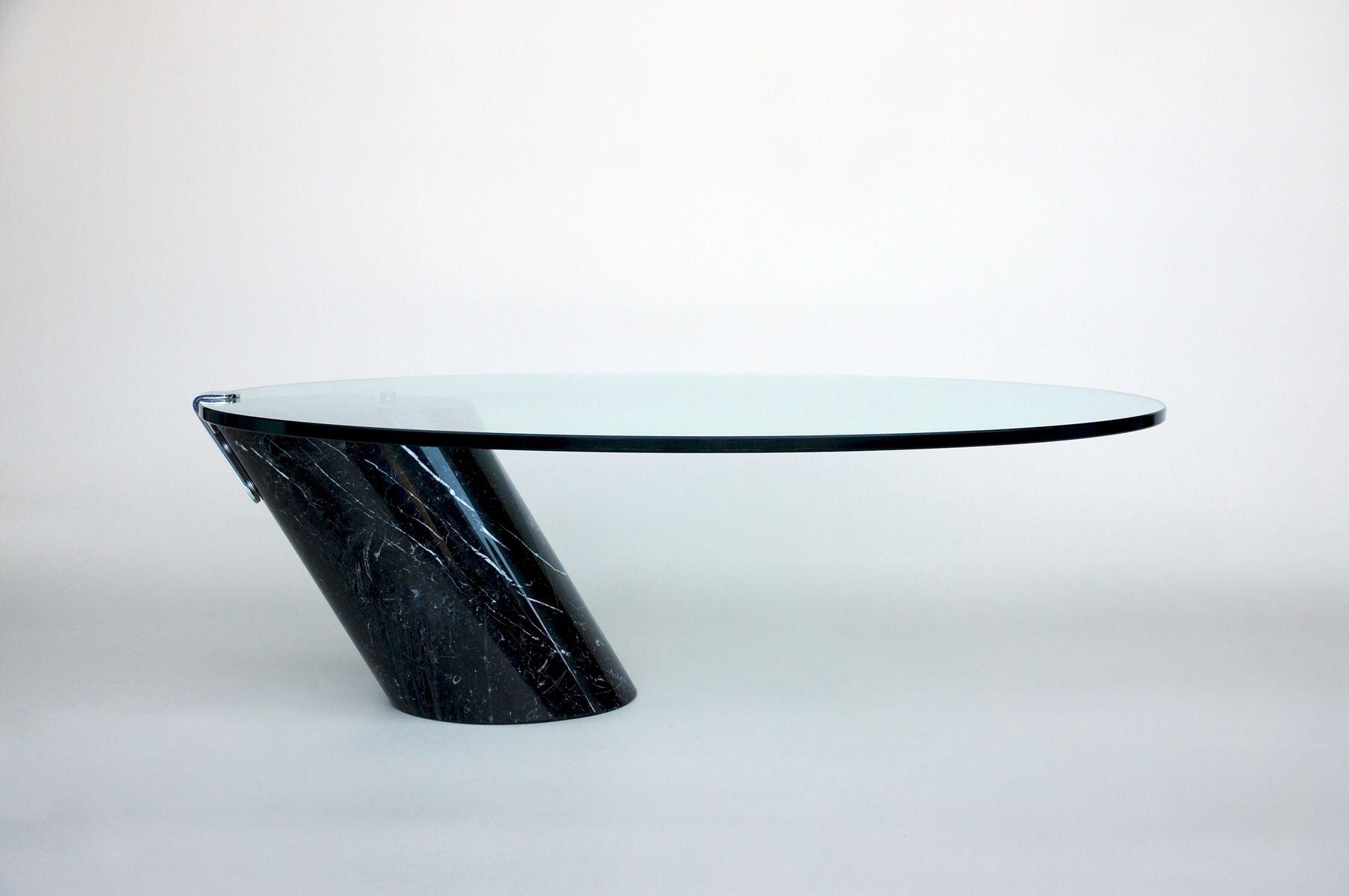 Glas und marmor couchtisch von ronald schmidt bei pamono for Designer couchtisch glas marmor