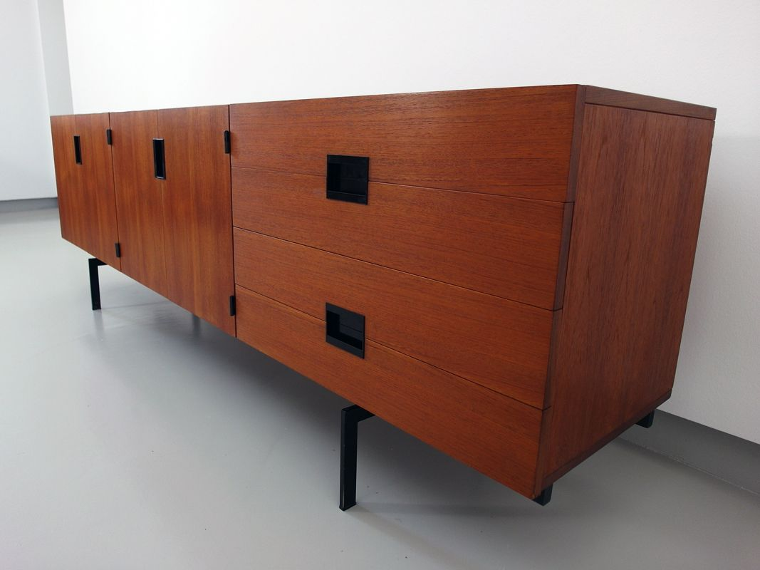 du03 sideboard aus teak metall von cees braakman f r pastoe 1958 bei pamono kaufen. Black Bedroom Furniture Sets. Home Design Ideas