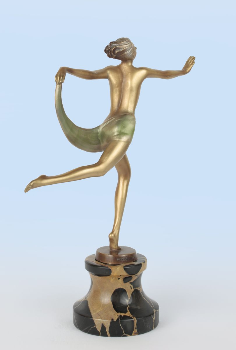 viennese deco bronze figure by lorenzl 1930 for sale at pamono