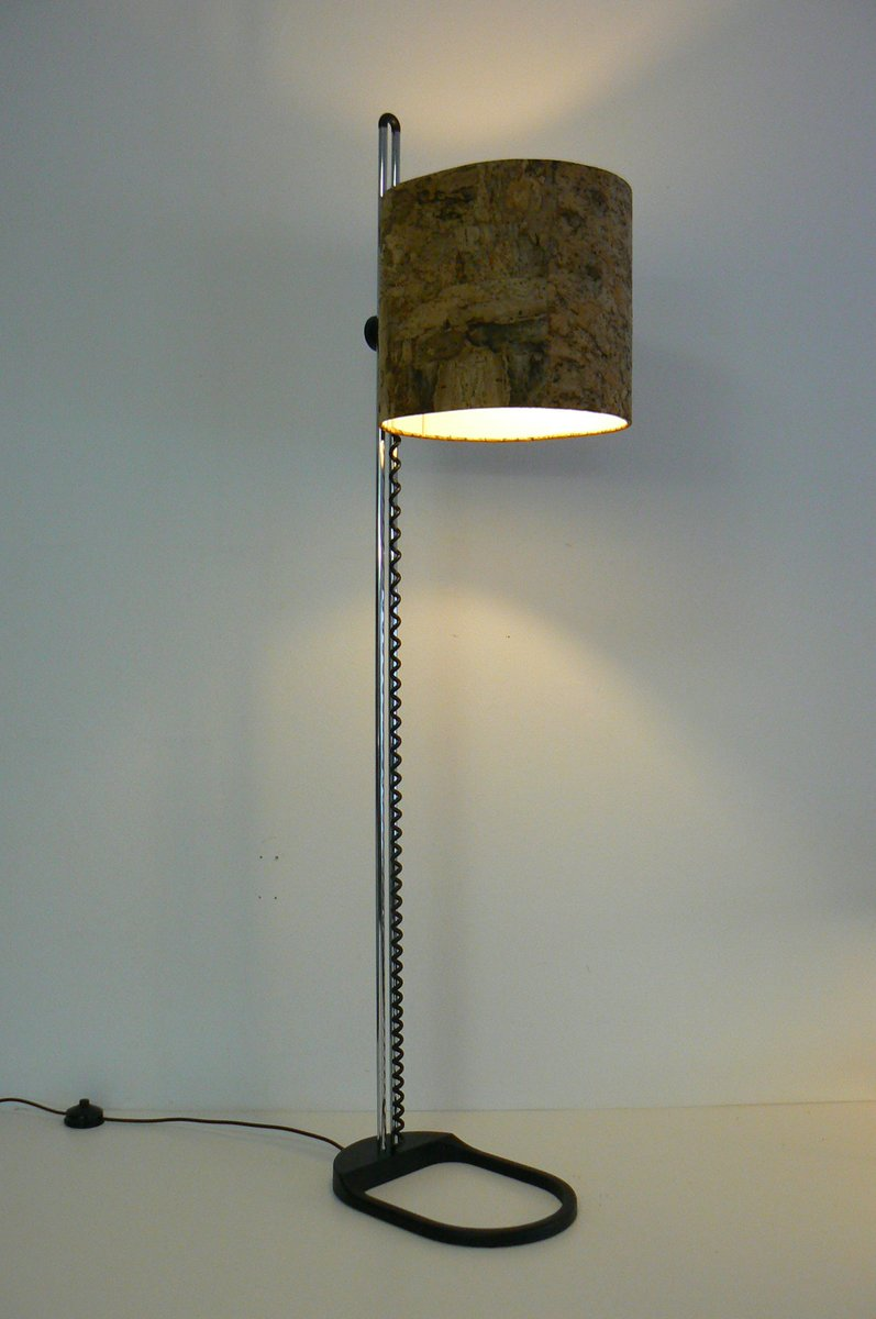 Floor lamp with cork shade from staff for sale at pamono for Wine cork lampshade