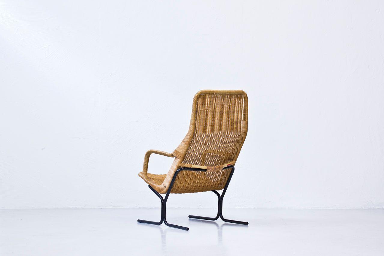 Wicker Lounge Chair by Dirk van Sliedregt for Rohé Noordwolde 1960s for sale