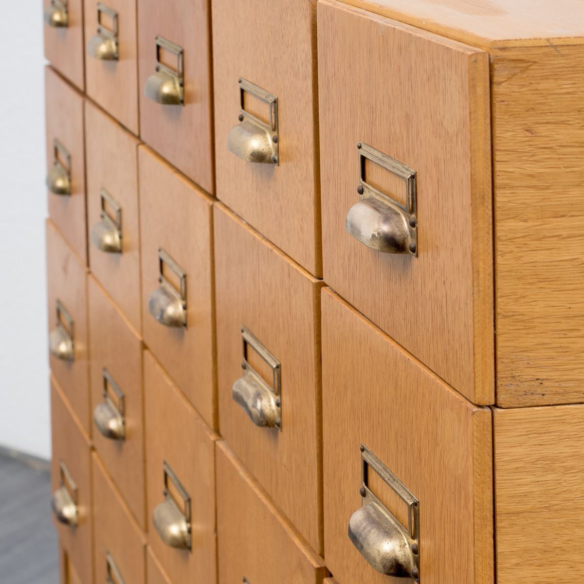 Superb img of Industrial Oak Drawers Cabinet 1950s for sale at Pamono with #734418 color and 1200x1200 pixels