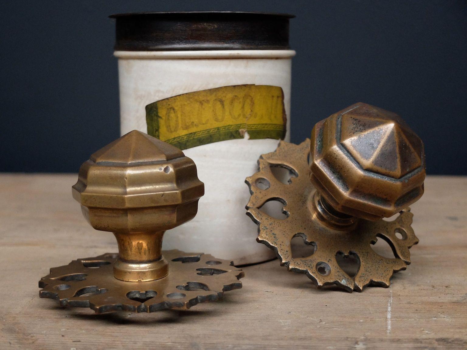 Gothic bronze door handles 1920s set of 2 for sale at pamono for 1920s door handles