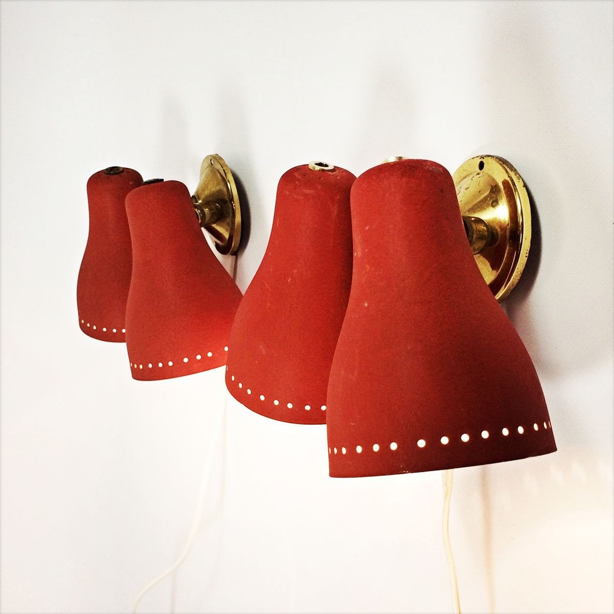 Wall Mount Lamp Set : Double-Shaded Wall-Mounted Lamps, Set of 2 for sale at Pamono