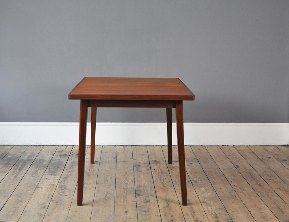 rectangular dining table with one side extension 1950s