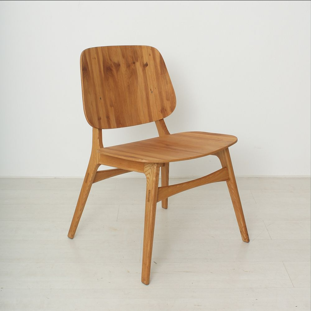 skandinavischer stuhl aus echenholz 1950er bei pamono kaufen. Black Bedroom Furniture Sets. Home Design Ideas