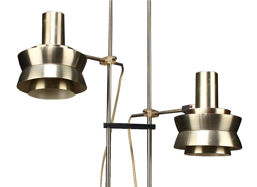 stehlampe mit zwei leuchten von carl thore f r granhaga bei pamono kaufen. Black Bedroom Furniture Sets. Home Design Ideas