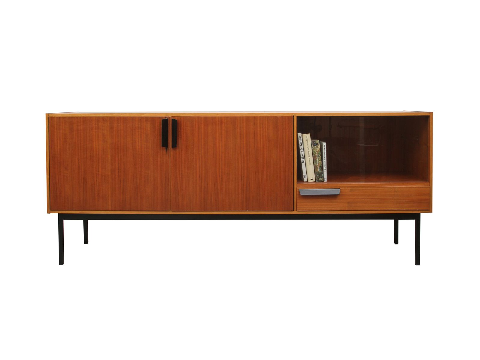 German walnut sideboard with vitrine 1960s for sale at pamono for Sideboard vitrine