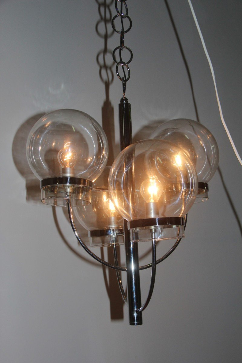 Italian Glass Globes Chandelier 1970s For Sale At Pamono