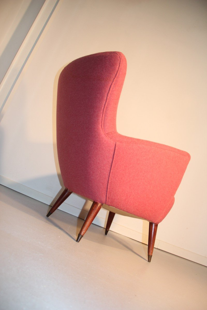 Mid Century Italian Red Armchair 1950s For Sale At Pamono