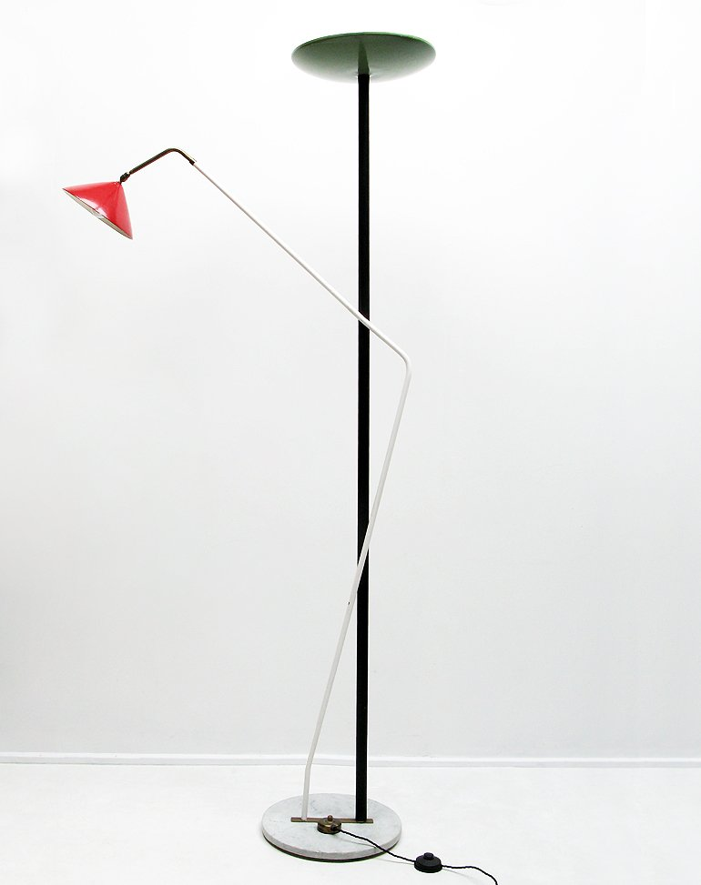Italian double floor lamp 1950s for sale at pamono for 1950s floor lamps