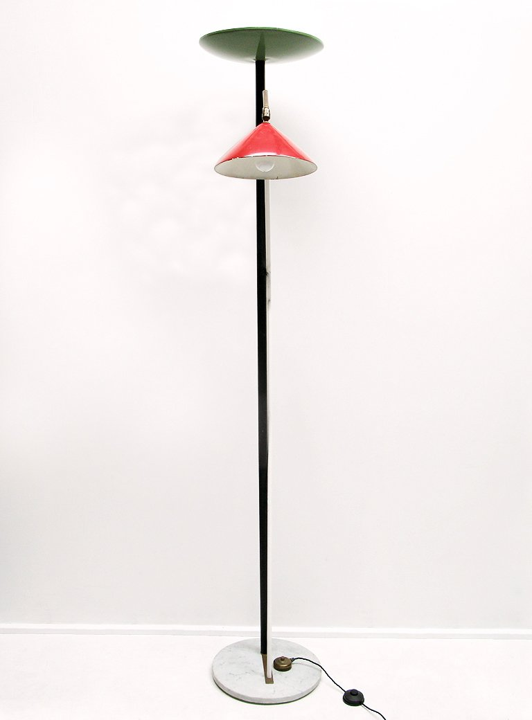 Italian double floor lamp 1950s for sale at pamono for 1950 floor lamp