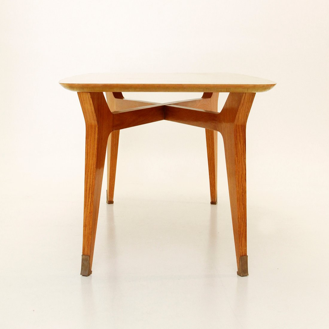 Italian Mid Century Beech Dining Table 1950s For Sale At Pamono