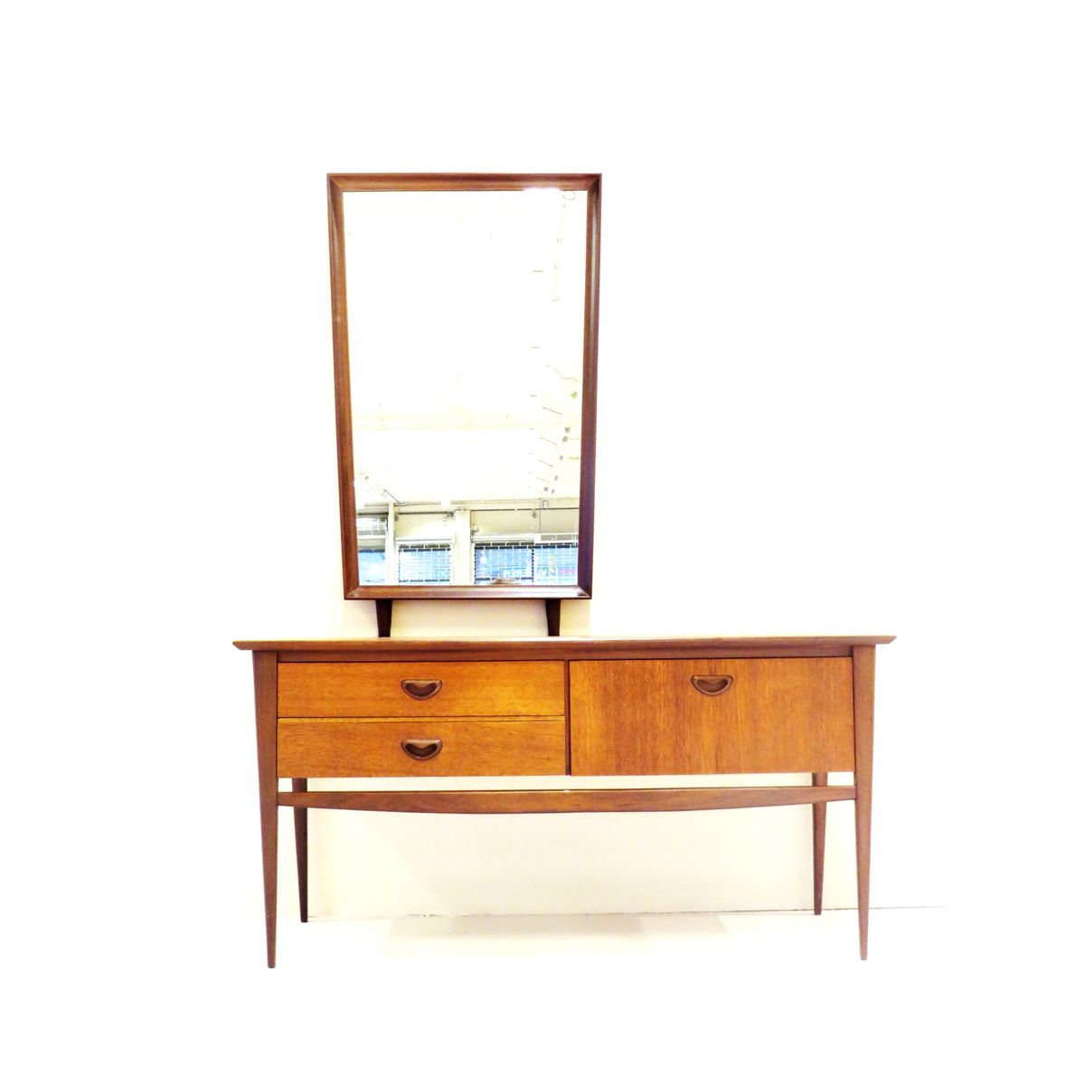 Mid century dressing table with mirror by louis van for 90cm dressing table