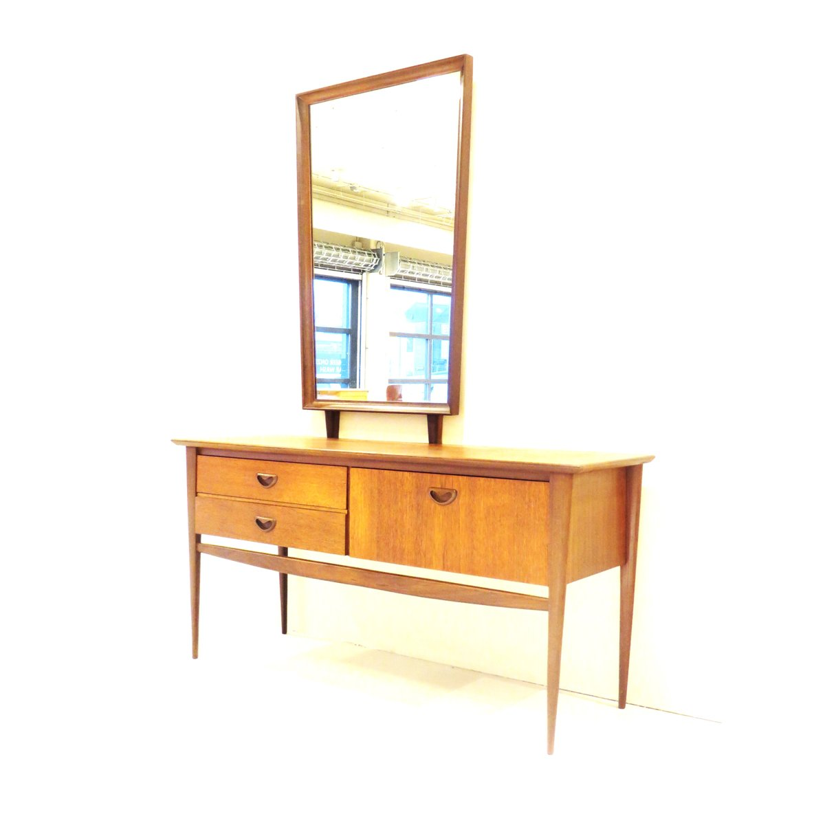 Mid Century Dressing Table With Mirror By Louis Van