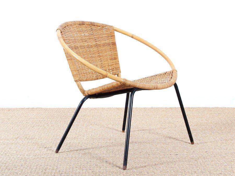fauteuil scandinave rond en rotin 1950s 2 Résultat Supérieur 50 Incroyable Fauteuil Osier Rond Galerie 2017 Gst3