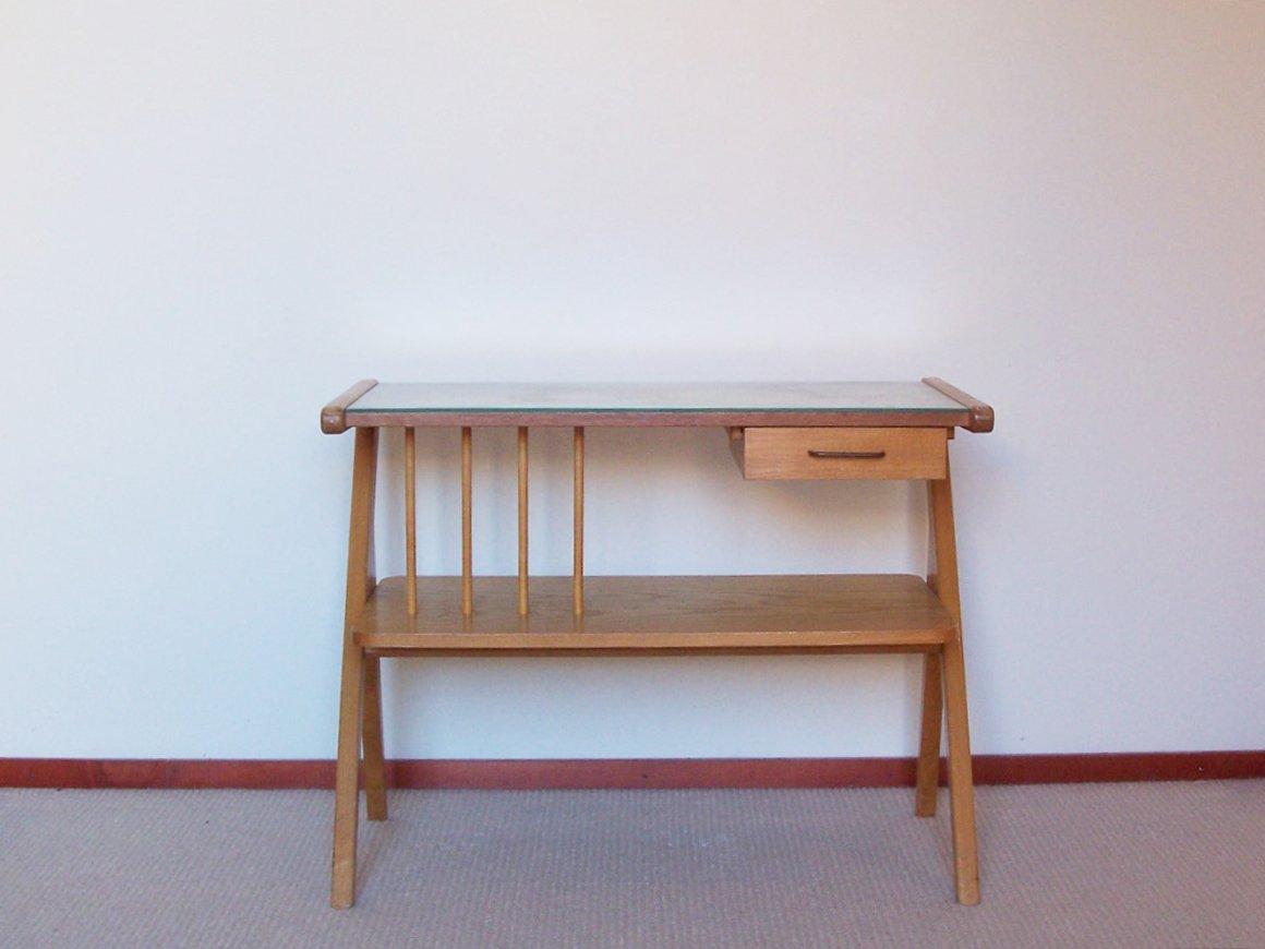 vintage beistelltisch aus holz bei pamono kaufen. Black Bedroom Furniture Sets. Home Design Ideas
