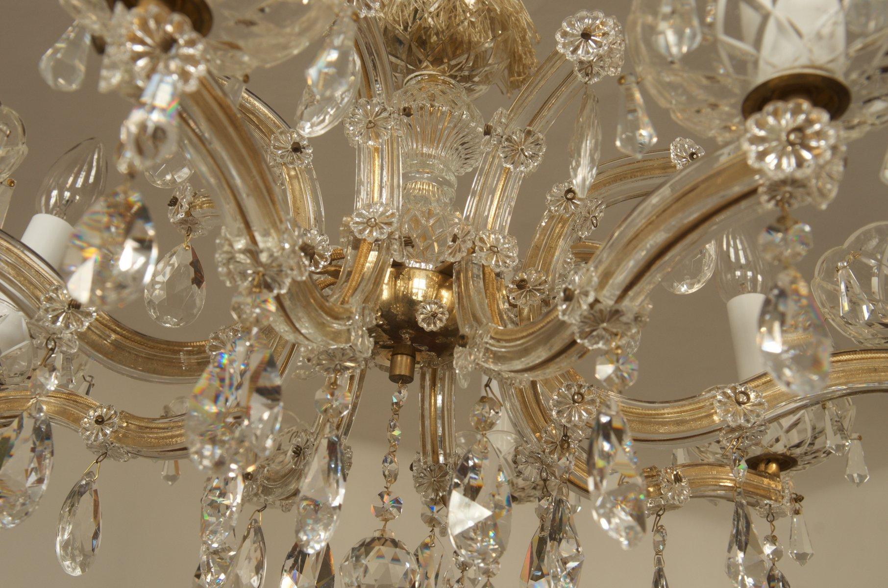 sterreichischer kristall kronleuchter 1950er bei pamono kaufen. Black Bedroom Furniture Sets. Home Design Ideas