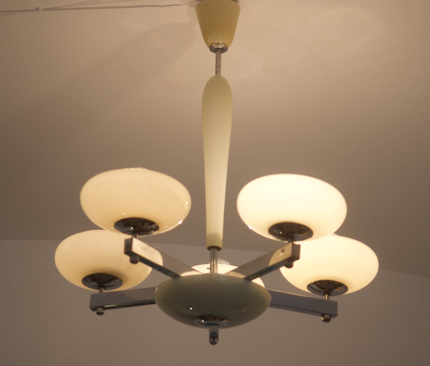 Large Art Deco Ceiling Light 1930s For Sale At Pamono