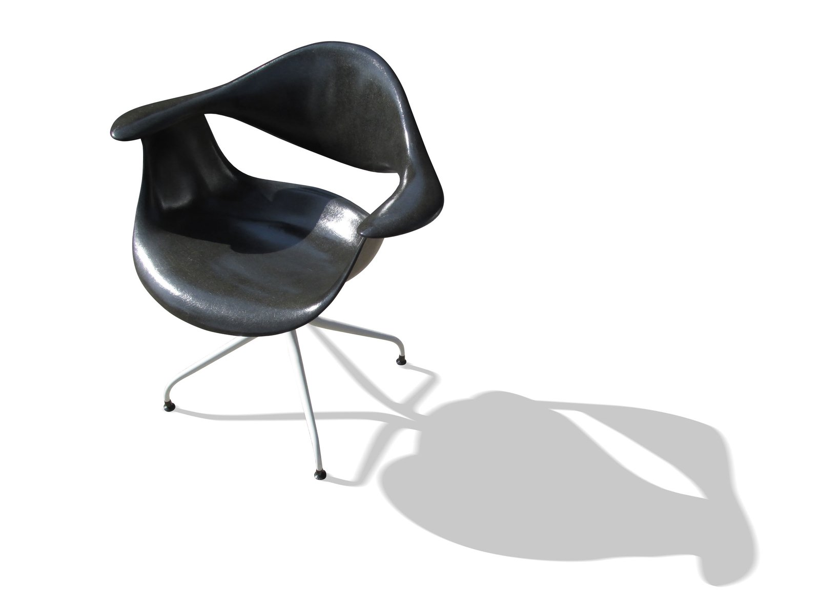 Black DAF Chair by Charles Pollock for Herman Miller for sale at