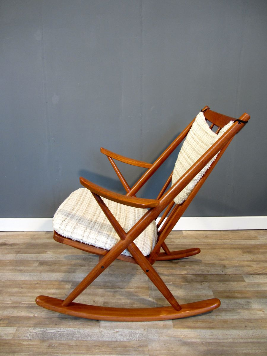 Frank reenskaug rocking chair - Danish Teak Gyngestol Model 182 Rocking Chair By Frank Reenskaug For Bramin 1958