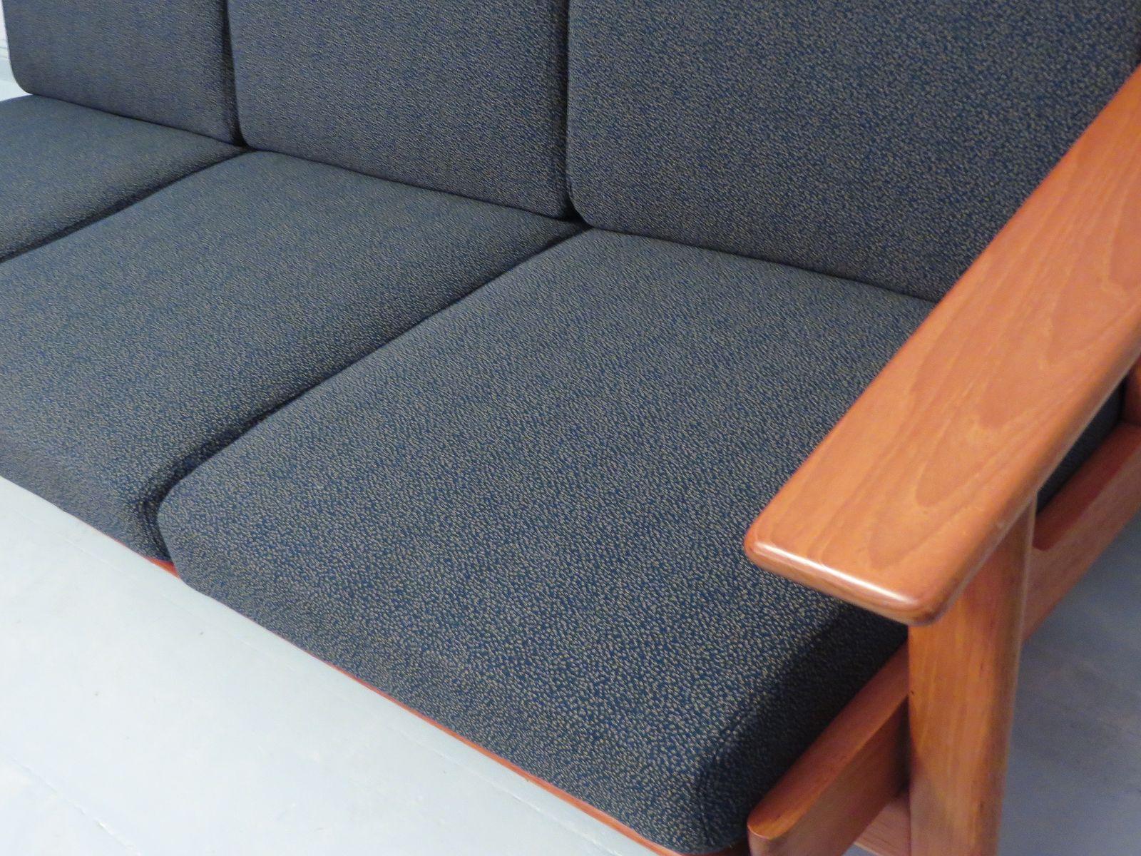 Three Seater GE 290 Teak Sofa by Hans Wegner for Getama Rare Teak