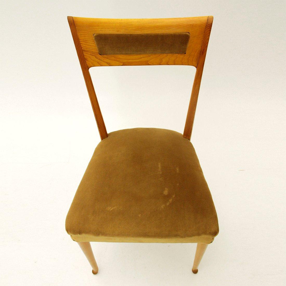 italienische st hle aus holz 1950er 6er set bei pamono kaufen. Black Bedroom Furniture Sets. Home Design Ideas