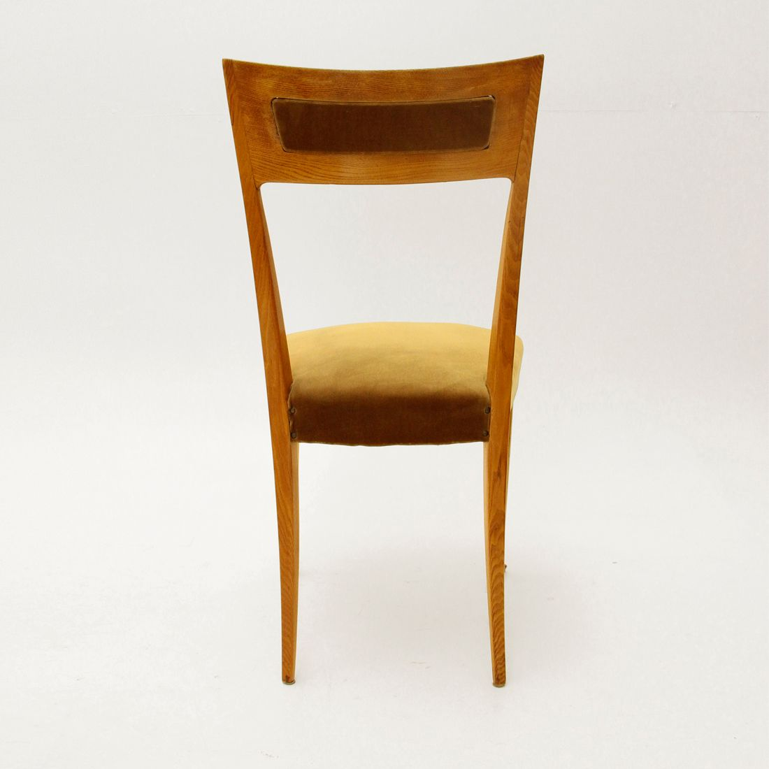 italian wooden chairs 1950s set of 6 6