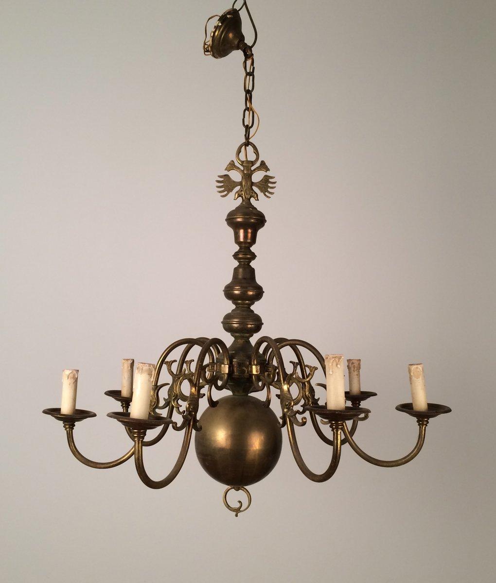 Lampadario vintage in bronzo e ottone anni 39 40 in vendita for Lampadario vintage