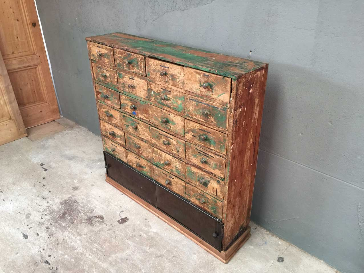 Vintage Workshop Cabinet With 24 Drawers For Sale At Pamono