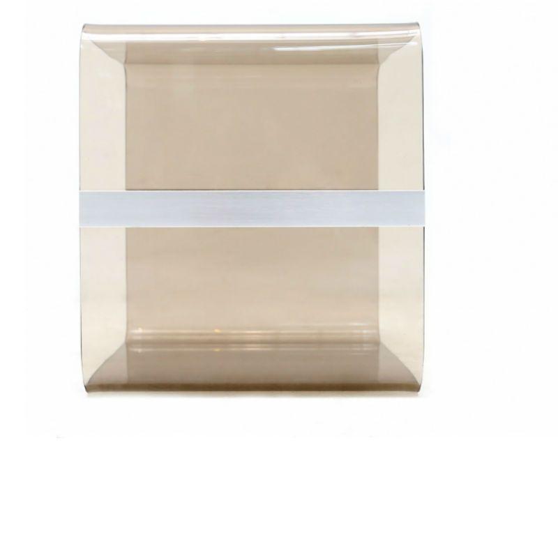 tables de chevet en plexiglas fum italie 1970s set de 2 en vente sur pamono. Black Bedroom Furniture Sets. Home Design Ideas