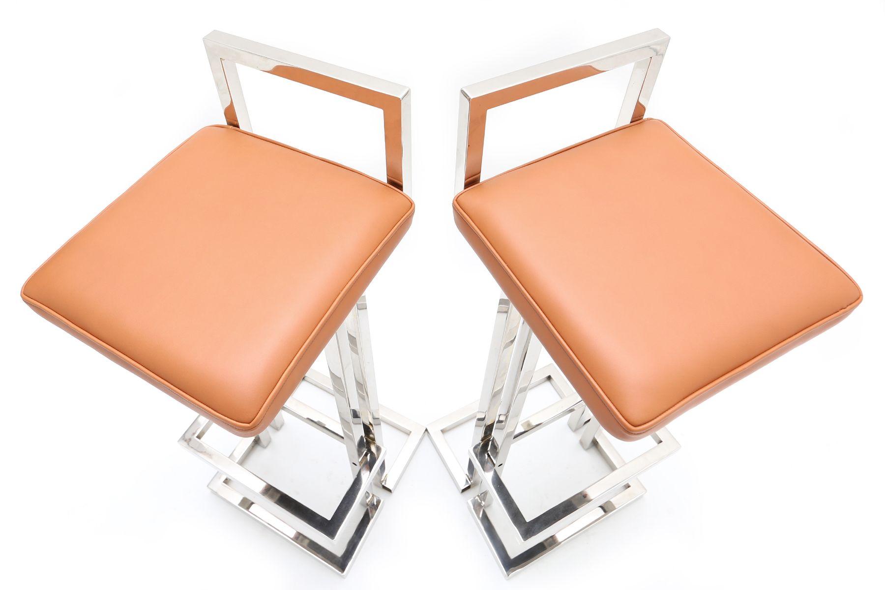 100 bar stools brushed steel dakota brushed stainless steel