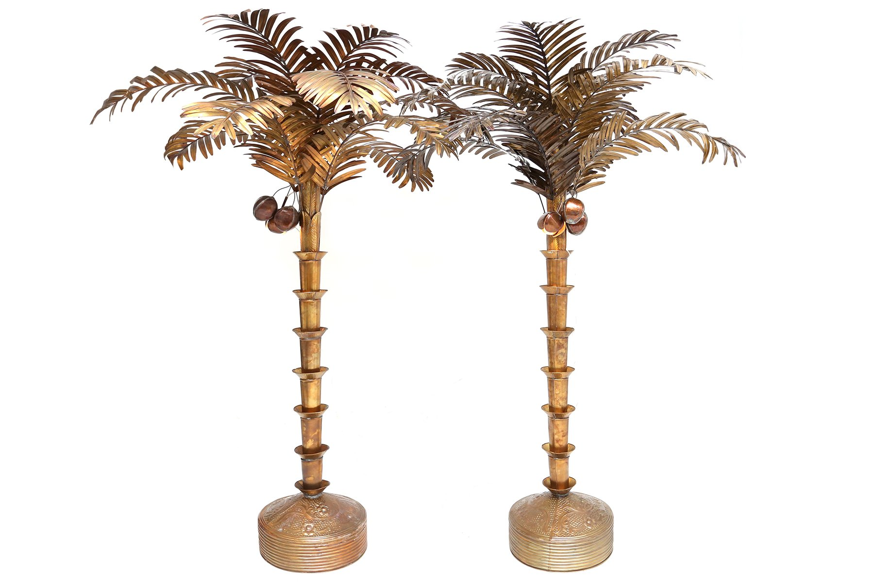 Brass plated palm tree floor lamp 1980s for sale at pamono for Tree floor lamp uk