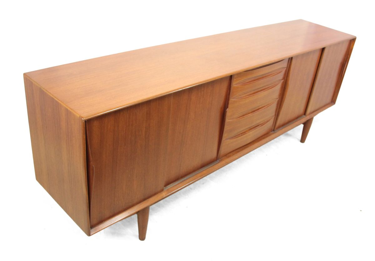 Danish mid century teak sideboard from dyrlund 1960s for for Sideboard 220 cm