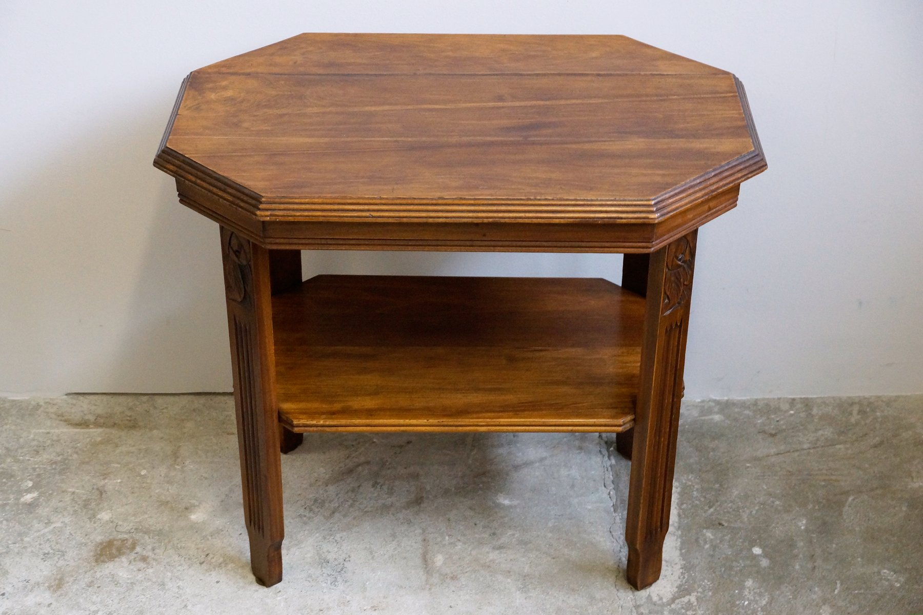 art deco jugendstil walnut side table 1920s for sale at. Black Bedroom Furniture Sets. Home Design Ideas