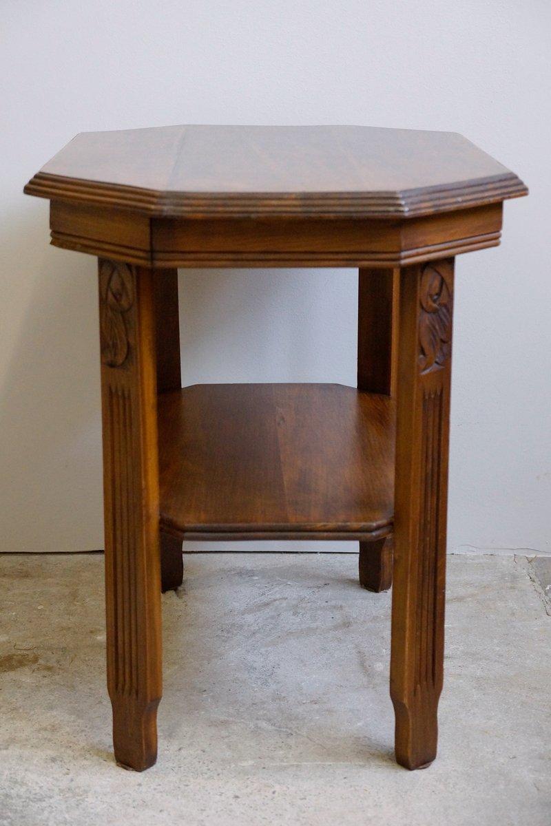 art deco jugendstil walnut side table 1920s for sale at. Black Bedroom Furniture Sets. Home Design Ideas