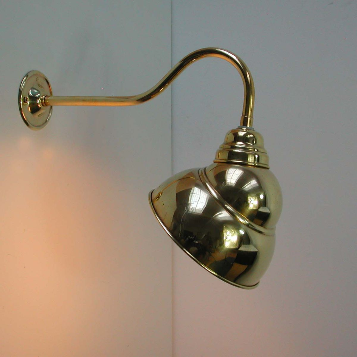 Wall Lamps Brass : French Industrial Brass Wall Lamp Sconce, 1950s for sale at Pamono