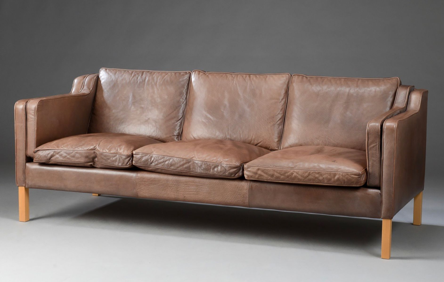 mid century danish leather sofa from stouby for at pamono