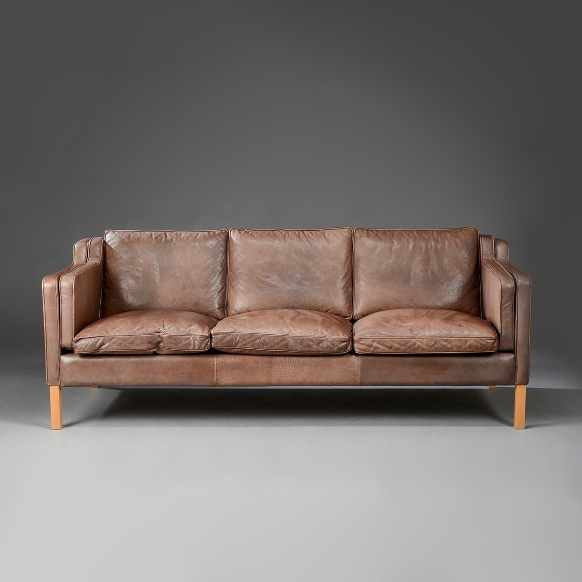 Mid Century Danish Leather Sofa From Stouby For Sale At Pamono