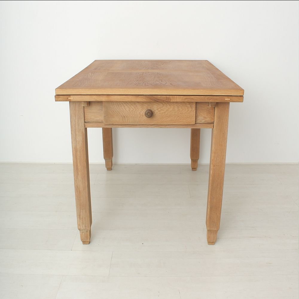 Vintage oak extendable dining table 1920s for sale at pamono - Oak extendable dining table ...