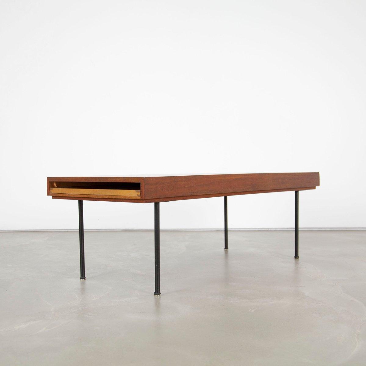 Table basse extensible mod le 4652 mid century en teck for Table extensible en solde