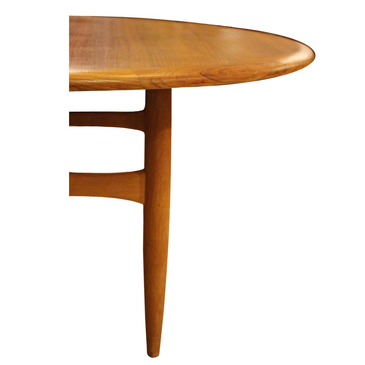 Round Swedish Teak Oak Coffee Table 1960s For Sale At Pamono