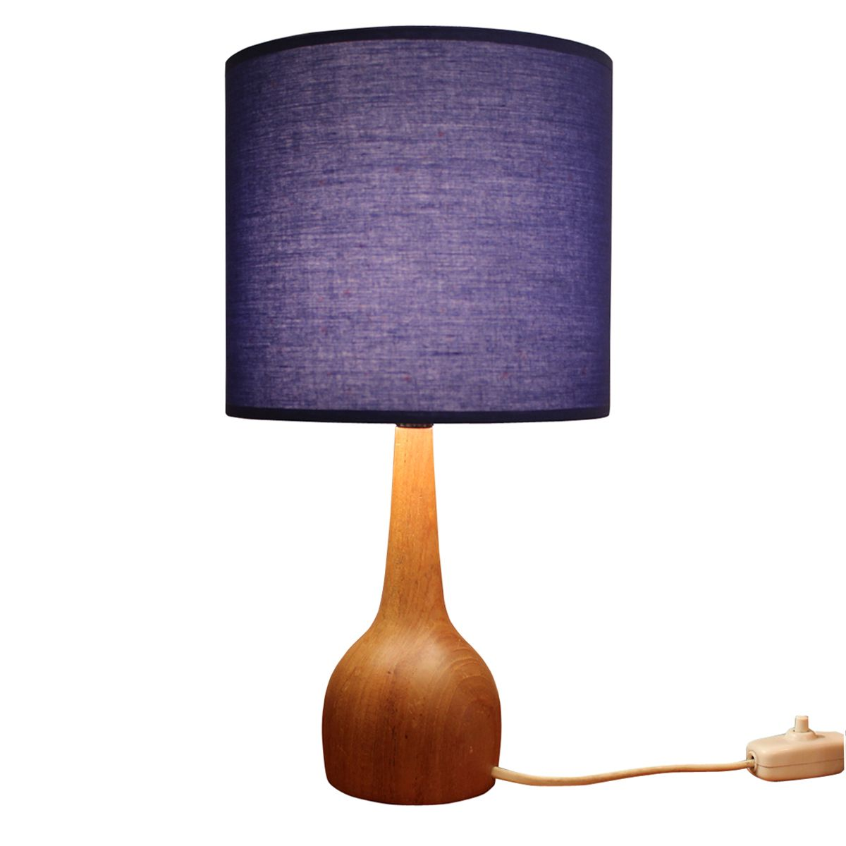swedish wooden table lamp with blue shade 1960s for sale at pamono. Black Bedroom Furniture Sets. Home Design Ideas